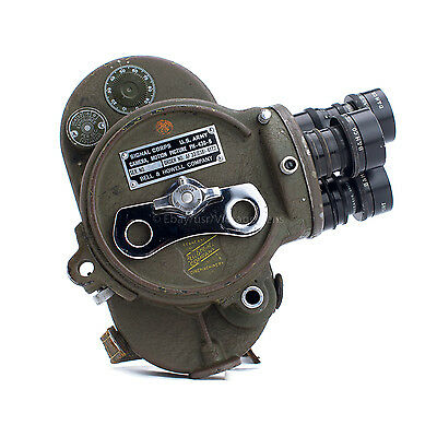 US Army Signal Corps B&H Filmo 16mm Combat Motion Camera W/ Lenses