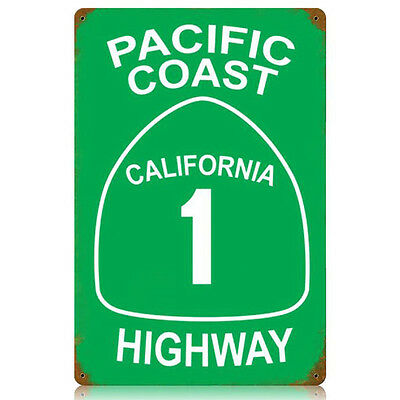 California Route Highway 1 PCH Huntington Beach sticker decal Pacific Coast HB