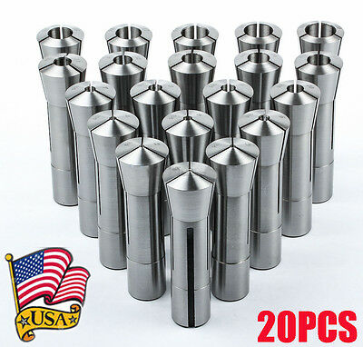 20 Pc Metric R8 Collet Set 1mm to 20mm High Precison for Bridgeport 20 Piece OY