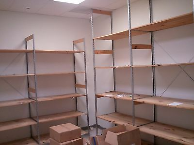 Backroom Shelving MEG LOT 20 Warehouse Storage Shelves Used Store Fixtures
