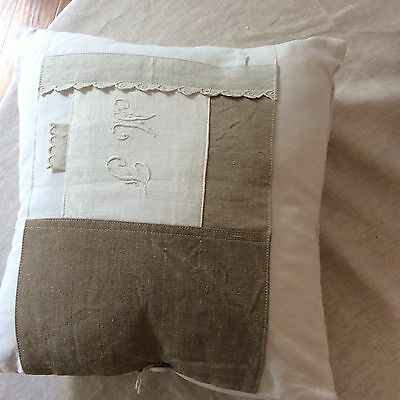 Pillow Cover French Antique Linen By Atelier Du Presbytere-Magnolia Pearl