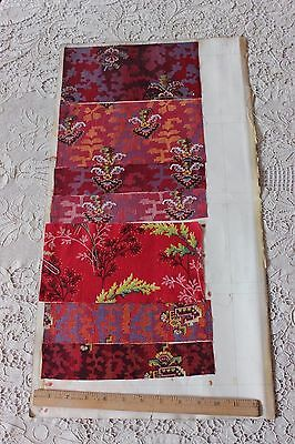 12 Turkey Red Fabric Samples On Original English Manufacturers Page c1899