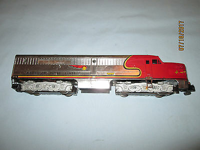 American Flyer #473 Santa Fe Diesel PA Dummy Unit in Chrome. 1953