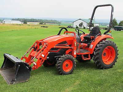 2014 Kioti Ck35 Compact Tractor Gear Drive 35Hp 927 Hours Fully Serviced Nice!