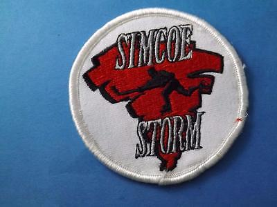 Simcoe Storm Oha Hockey Team Canada Patch Vintage Souvenir Collector
