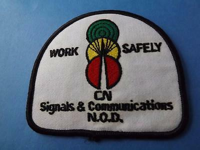 Cn Railroad Signals  & Communications Work Safely Patch Railway Train Collector