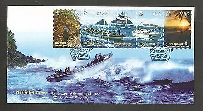 Pitcairn Islands 2008 Longboat History Fdc Sg,759-762 Lot 4515A