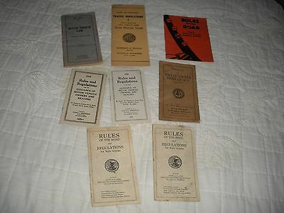 Rules of The Road & Traffic Regulations  (7)  1920's (4); 30's (3); 40's (1)