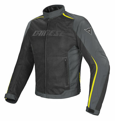 Dainese G. Hydra Flux D-DRY Black Dark Gull Gray Yellow, motorcycle jacket, NEW!