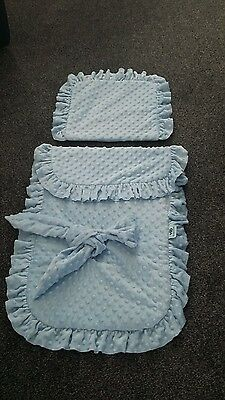 BLUE V.I.B PRAM COVER AND MATCHING PILLOW IMMACULATE 💙💙reduced now