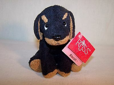 Russ Plush LUV Pets Black & Tan Rottweiler BISCUIT Puppy with Tags