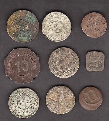 Bavaria Early Issue 9 Coin Lot - Nice Lot!