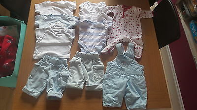 Newborn baby boy clothes small bundle lots of M&S