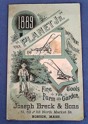1889 Planet Jr Garden Tool Catalog & Price List, Joseph Breck & Sons, Boston MA