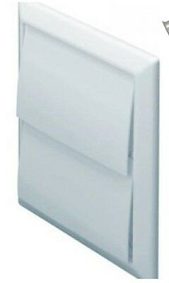 """100mm 4"""" white gravity 2 flap style vent for tumble dryer or extractor fan etc"""