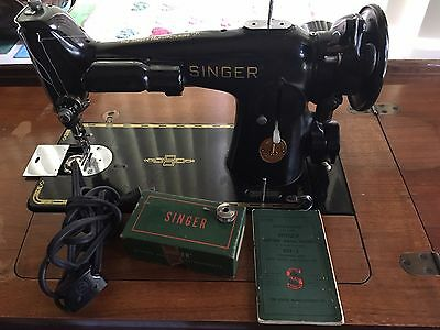 201-2 Singer Sewing Machine AJ696455 With Attachments & Manual