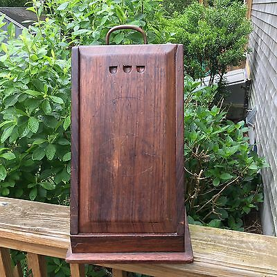 Antique Country Primitive Wooden French Cheese Grater Box Rare Hand Made