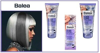 Balea Professional Shiny Silver shampoo,Conditioner, Hair mask,Vegan,Select: