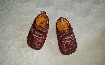 Baby Boys Clarks First Shoes  Size 3.5 F