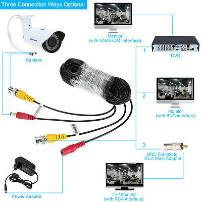 10M 20M 30M CCTV Cable BNC Video Cable Power For Surveillance Security Camera