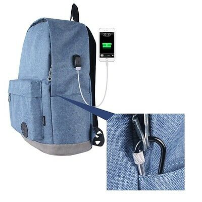 Anti Theft Travel Backpack Laptop Book School Bag Rucksack USB Charger Port New