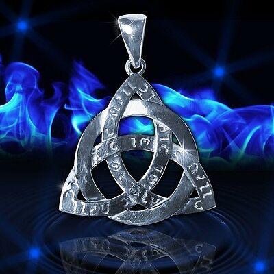 Amulet Celtic knot Triquetra Ancient Power Force Trinity Silver sterling