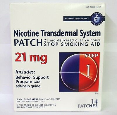 Nicotine Transdermal System Patch 21 MG Step 1 Patches 14 in box 11/2018