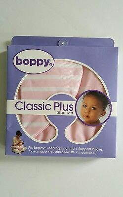 Brand New Boppy Classic Plus Slipcover Pink And White Baby Girl