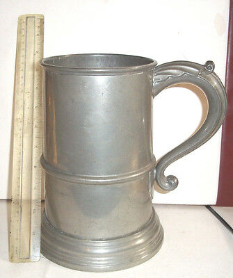 Very Large Antique Sheffield Pewter Tandkard