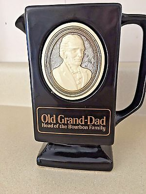 Old Grand-Dad Pitcher Black with Medallion on both sides