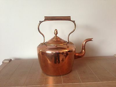Antique Victorian Copper Kettle DoveTail Goose Neck