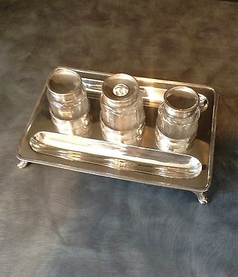Superb George 111 Solid Silver Hallmarked Ink Stand London 1798