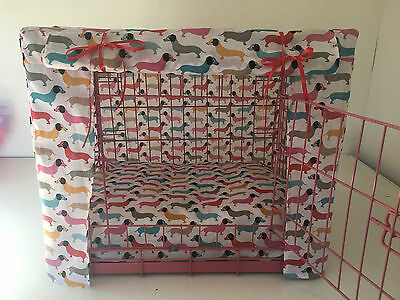 Made To Measure Daschund Dog Crate / Cage Cover