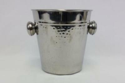 Hammered Silver Color Campagne Ice Bucket Tin