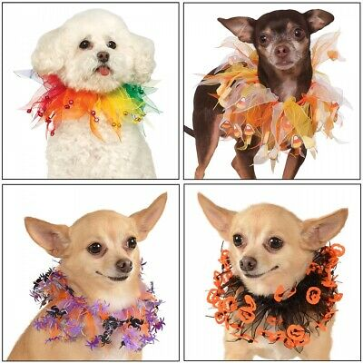 Dog Tulle Collar Costume Pet Halloween