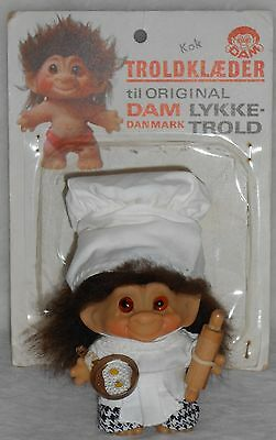 "2-5/8"" Dam 1960's Troll in Cook Costume Mint Out of Euro Package"