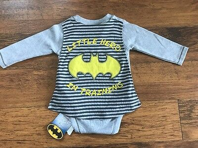 'Little Hero In Training' Batman Top Age 6-9 Months With Cape Marvel Super Hero