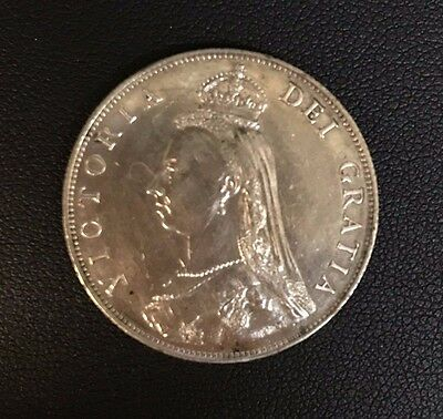 1887 Great Britain Florin (Two Shilling) Silver Coin