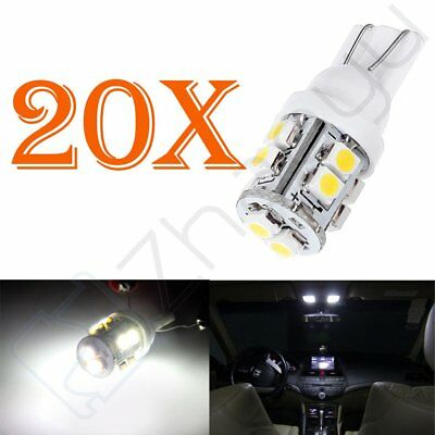 20x T10 Wedge 10-SMD White Interior Map LED Light Bulbs 198 164 2825 W5W 192 12V