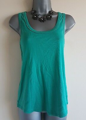 Size 10 Maternity Vest Top NEXT Green Fitted Stretch Casual Women's
