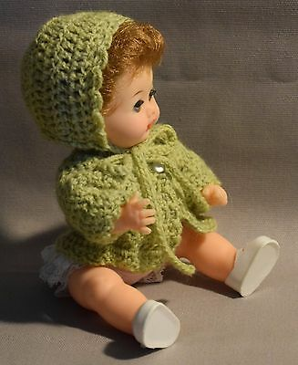 Crocheted Bonnet And Sweater To Fit 7.5 Inch Little Betsy Wetsy