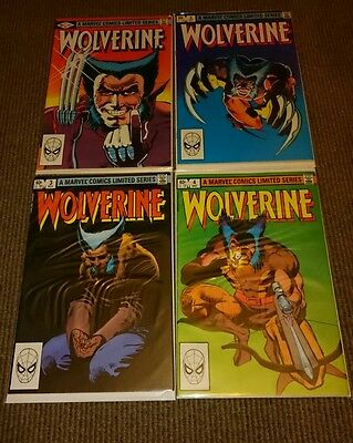 Wolverine Issues 1-4: 1982 Complete 1st Series, Frank Miller 4 Comics FN/VFN 7.0