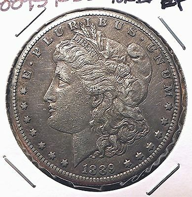 Raw Morgan Silver Dollar - Nice Circulated 1889S - You Grade Auction!  R25