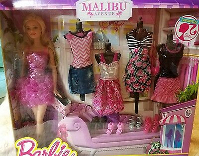 Barbie Malibu Avenue Fashion Doll Favorites Trendy Fashionable Barbie New