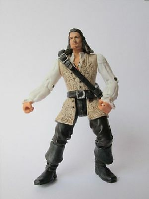 "Pirates Of The Caribbean WILL TURNER 4"" Action Figure Disney Zizzle"
