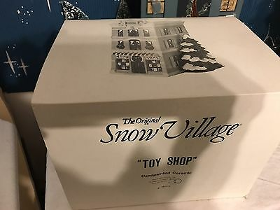DEPT 56 Snow Village Toy Shop retired Great CONDITION
