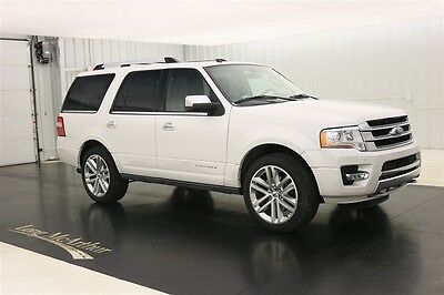 2017 Ford Expedition 4X4 PLATINUM WHITE NAV SUNROOF MSRP $69910 4WD ECOBOOST ENGINE, 2ND ROW HEATED BUCKET SEATS, POWERFOLD 3RD ROW SEATS