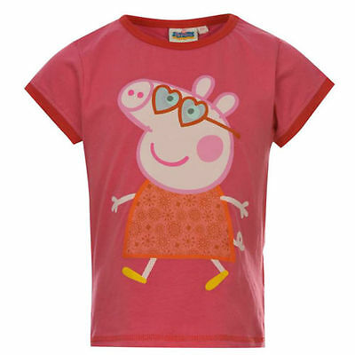 NEW Official Age 1-2 PEPPA PIG Girls Cotton Short Sleeved T Shirt PINK