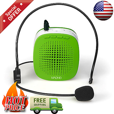 Portable Wireless Voice Amplifier With Headphone Microphone For Teachers Speech