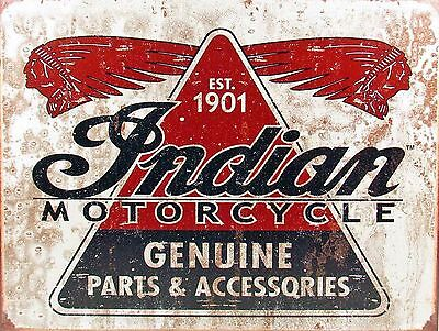 Indian Motorcycle Sign Man Cave Garage Shed Vintage Gift workshop Mechanic Cars